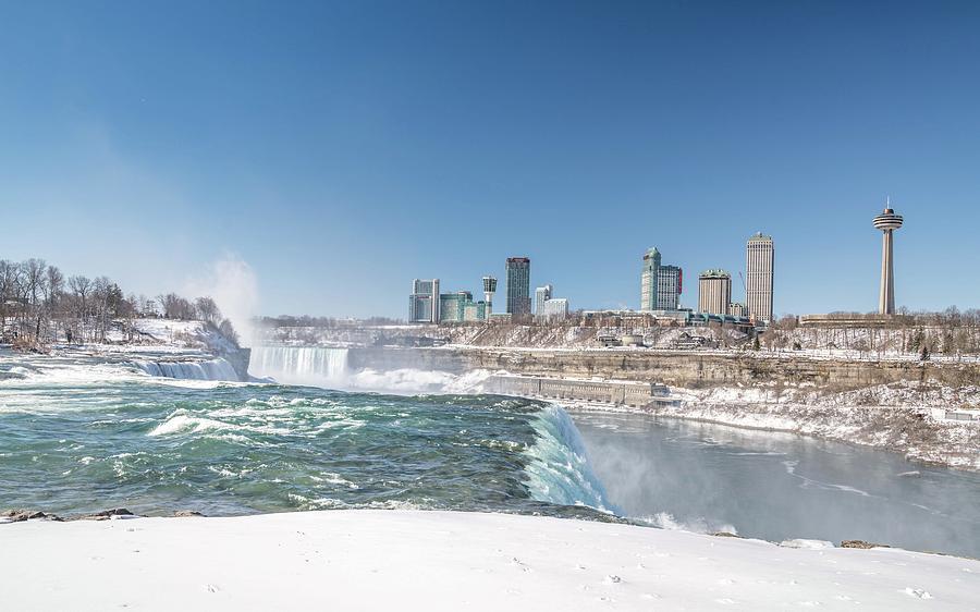 Usa Photograph - Niagara And Canada by Framing Places