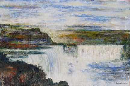Splashing Painting - Niagara Fall by S Low