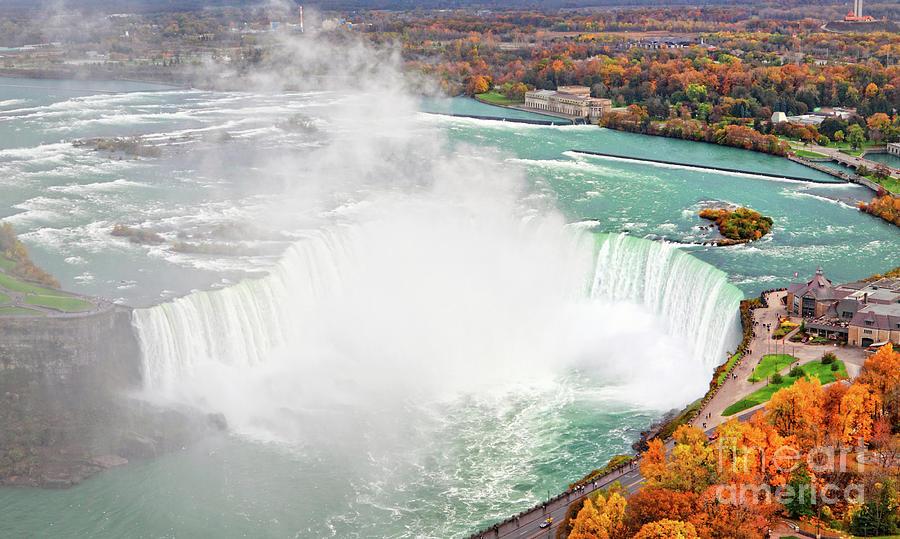 Niagara Falls Photograph - Niagara Falls Autumn by Charline Xia