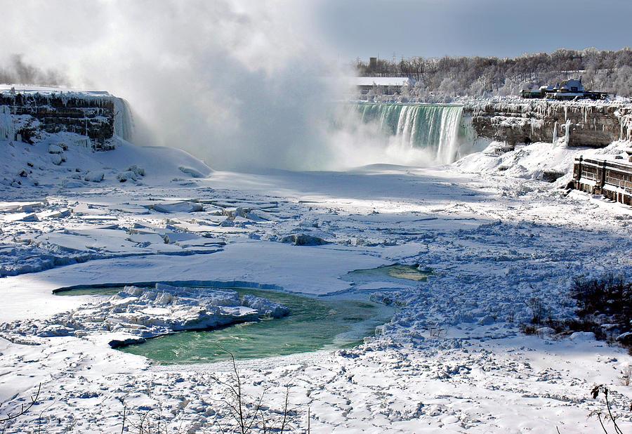 Frozen Niagara Falls US Side at Night | JW Mantha | Flickr |Niagara Falls Frozen 2009
