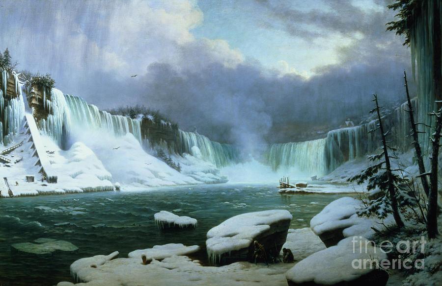 Niagara Painting - Niagara Falls by Hippolyte Victor Valentin Sebron
