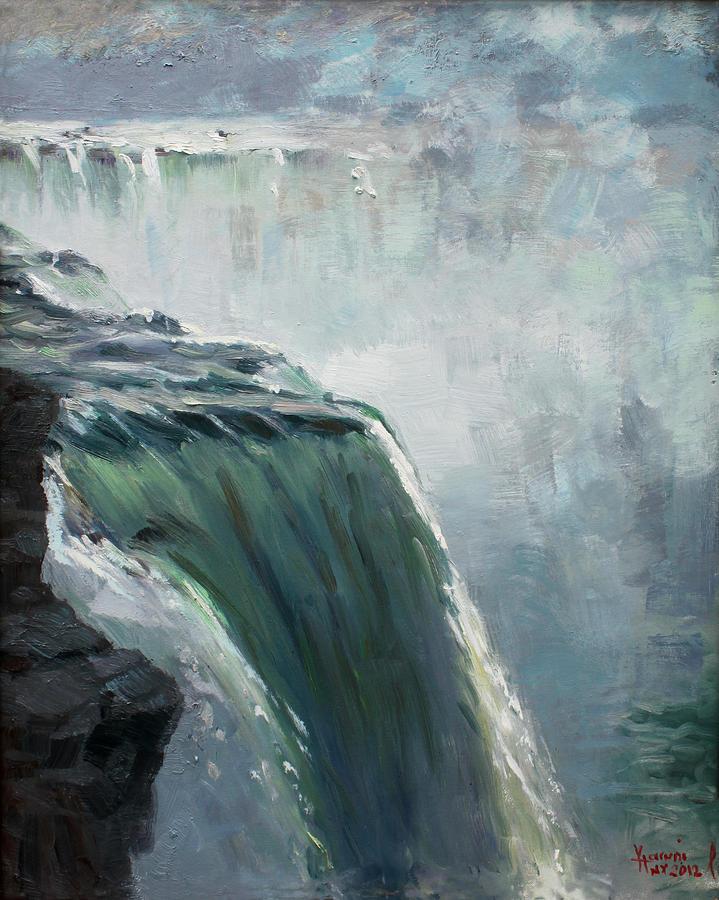 Water Falls Painting - Niagara Falls Ny by Ylli Haruni