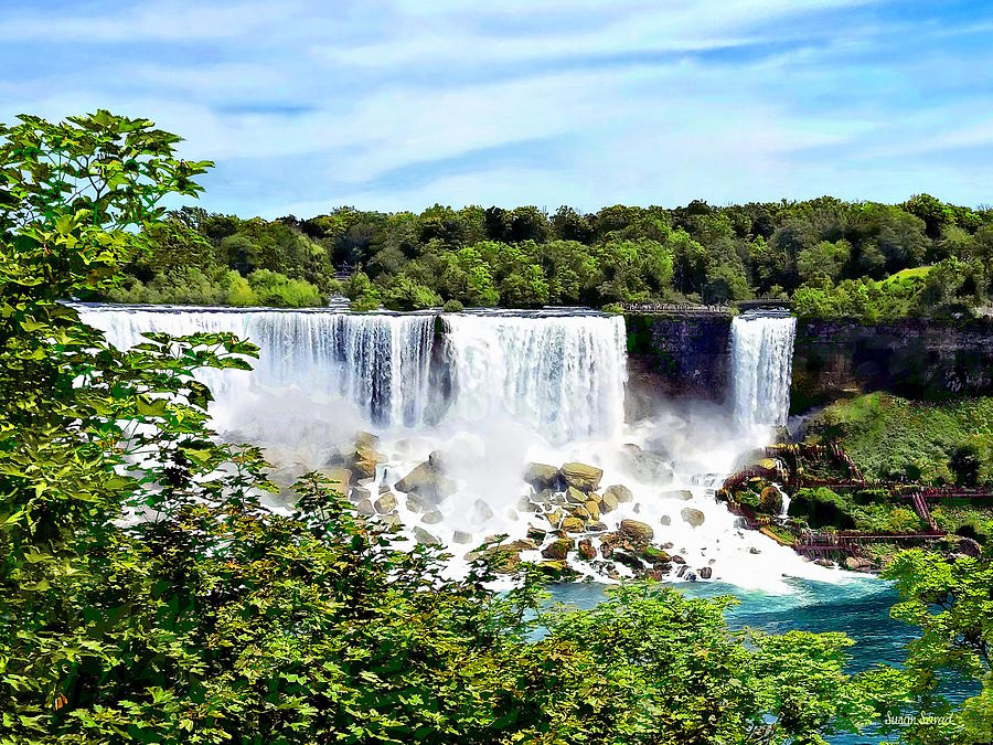 Niagara Falls On American Falls And Bridal Veil Falls Photograph By