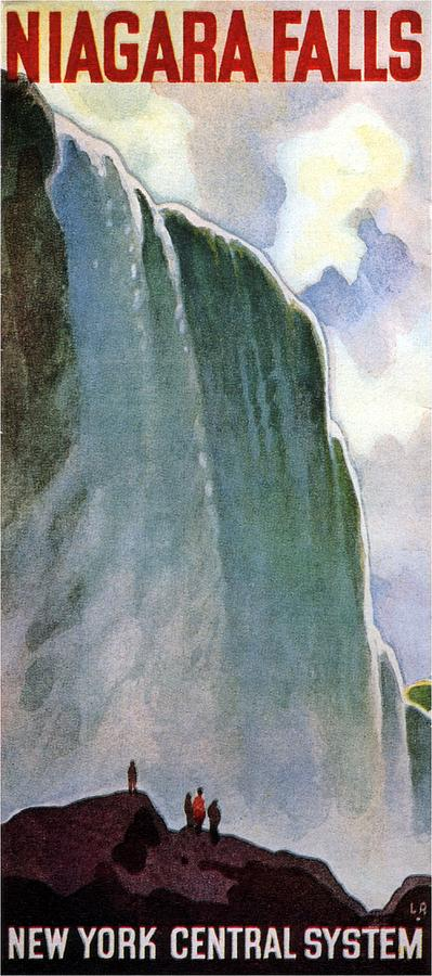 Niagara Falls - Vintage Illustrated Poster Painting