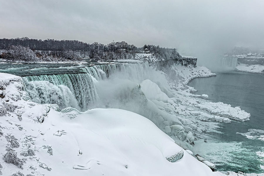 Niagara Falls Winter Close-up by Josh Bryant