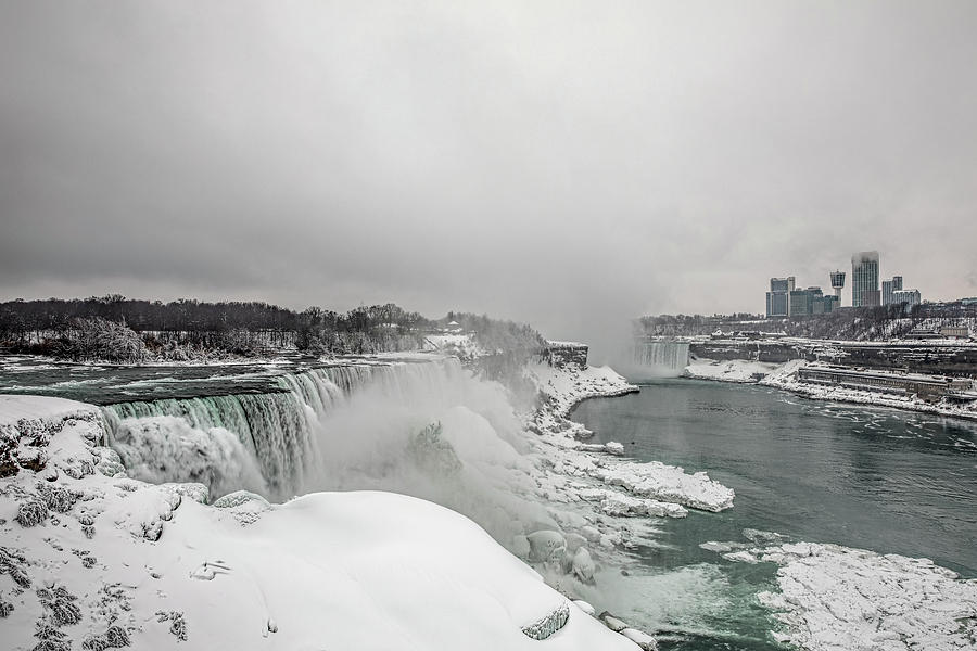 Niagara Falls Winter Wide by Josh Bryant