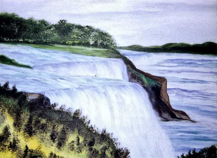 Niagra Falls Painting - Niagra Falls N.y. Side by Paul james  Schumann