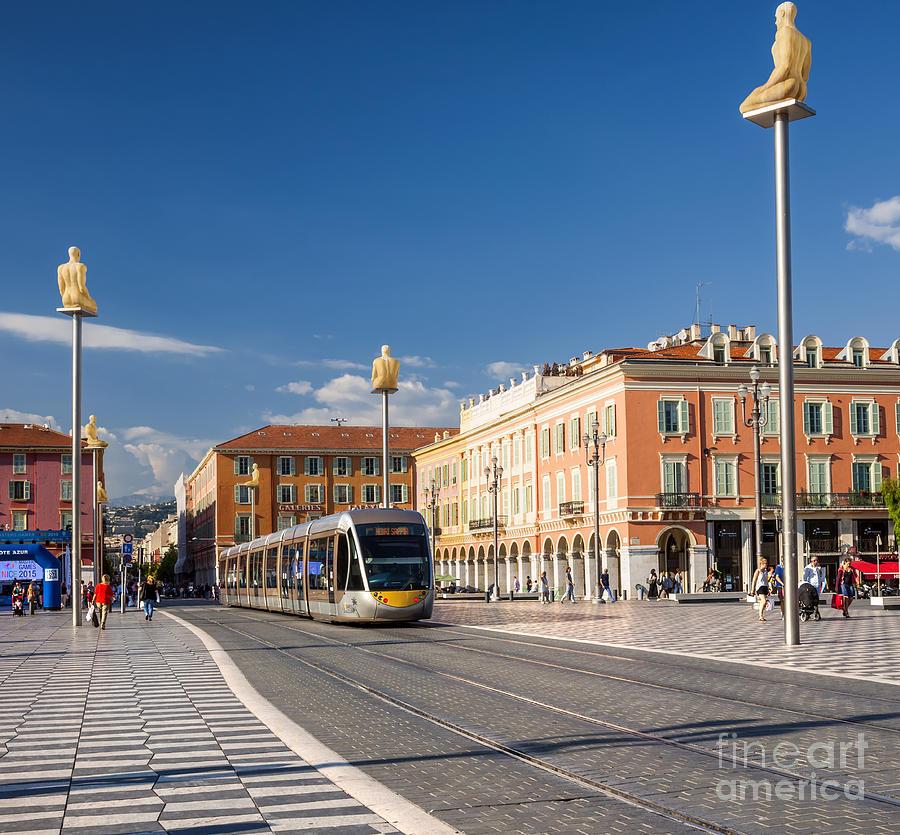 Tramway Photograph - Nice Tramway At Place Massena by Elena Elisseeva
