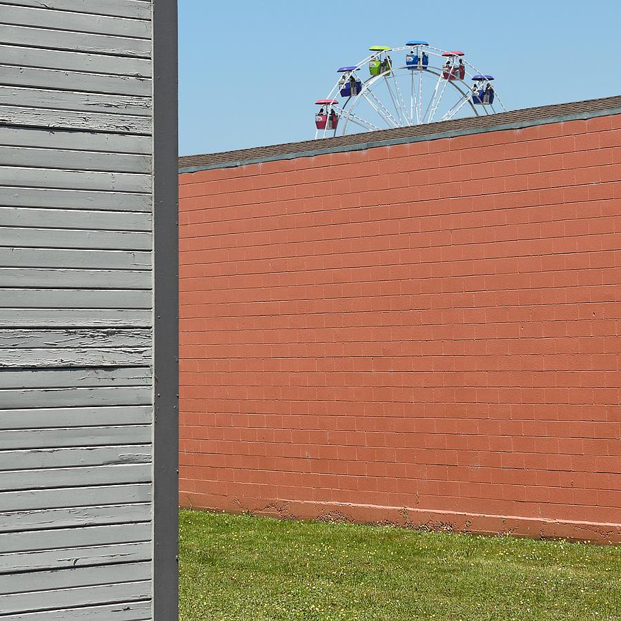 Ferris Photograph - Nice View by Jon Exley