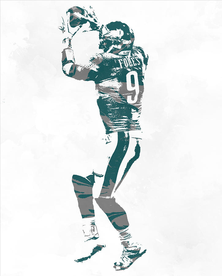 Nick Foles Philadelphia Eagles Pixel Art 10 Mixed Media By