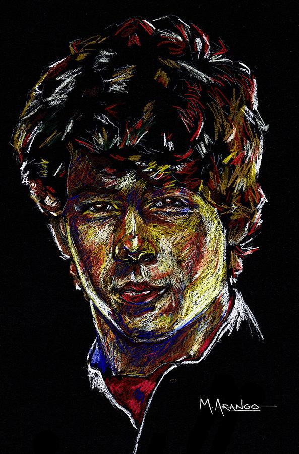 Nick Jonas Drawing - Nick by Maria Arango