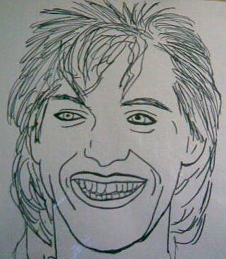 Nick Rhodes Drawing - Nick Rhodes by Alisha Carroll