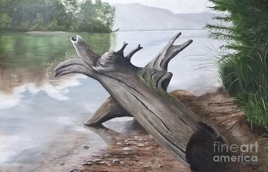 Driftwood Painting - Nickajack Driftwood by Donnis Crowe