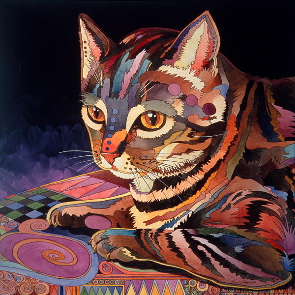 Feline Painting - Nickels by Bob Coonts