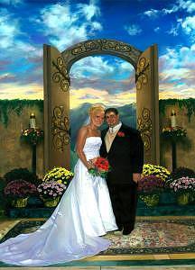 Wedding Painting - Nicki N Lenny by Craig Werkheiser