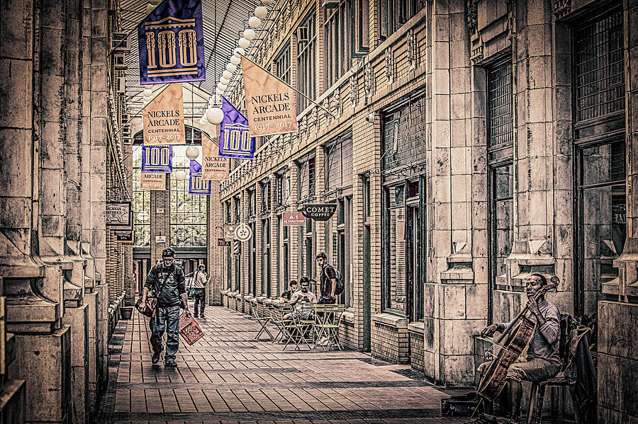 Nickles Arcade-downtown Ann Arbor Photograph