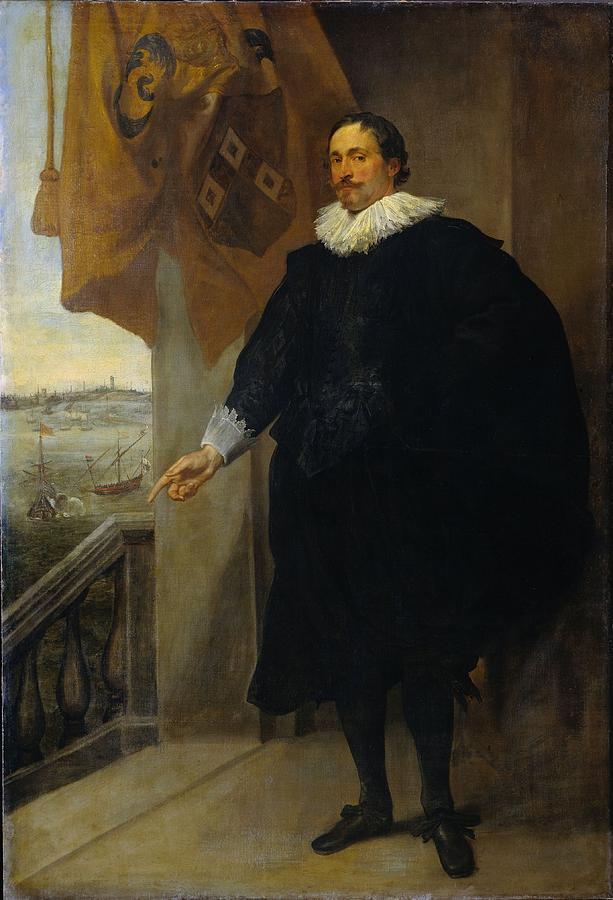Merchant Painting - Nicolaes Van Der Borght, Merchant Of Antwerp by Anthony van Dyck