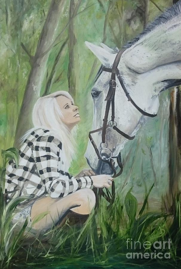 Horse Painting - Nicole And Cellie by Isabella F Abbie Shores FRSA