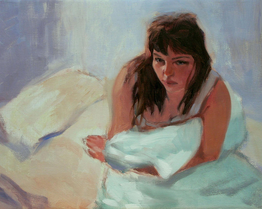 Portrait Painting - Nicole In The Morning by Merle Keller