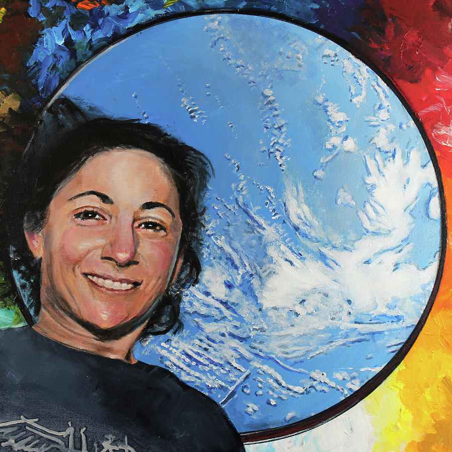 Nicole Stott Painting - Nicole Stott by Simon Kregar