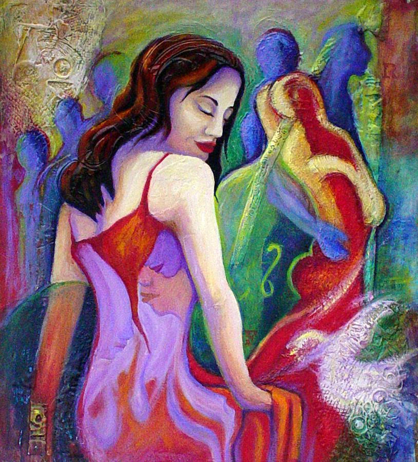 Dancer Painting - Nidia by Claudia Fuenzalida Johns
