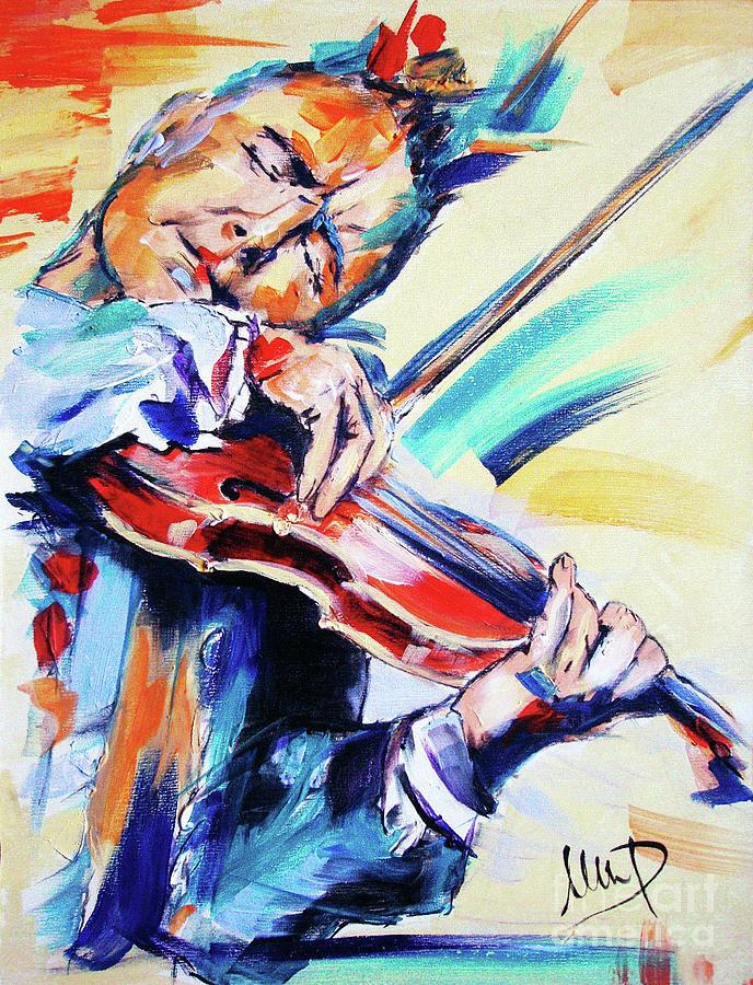 Nigel Kennedy Painting - Nigel Kennedy by Melanie D