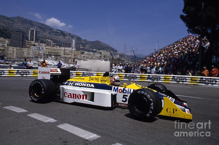 Nigel Mansell Photograph - Nigel Mansell. 1987 Monaco Grand Prix by Oleg Konin