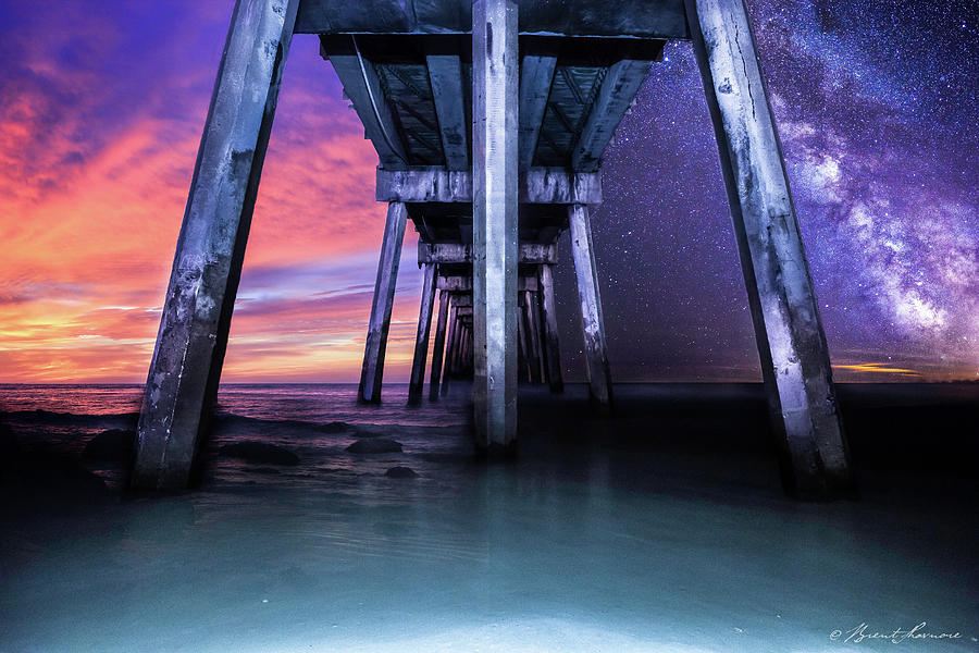 Night And Day Difference- Pensacola Beach Digital Art by Brent Shavnore