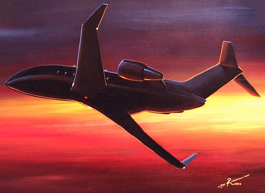 Bombardier Painting - Night Angel by Peter Ring Sr