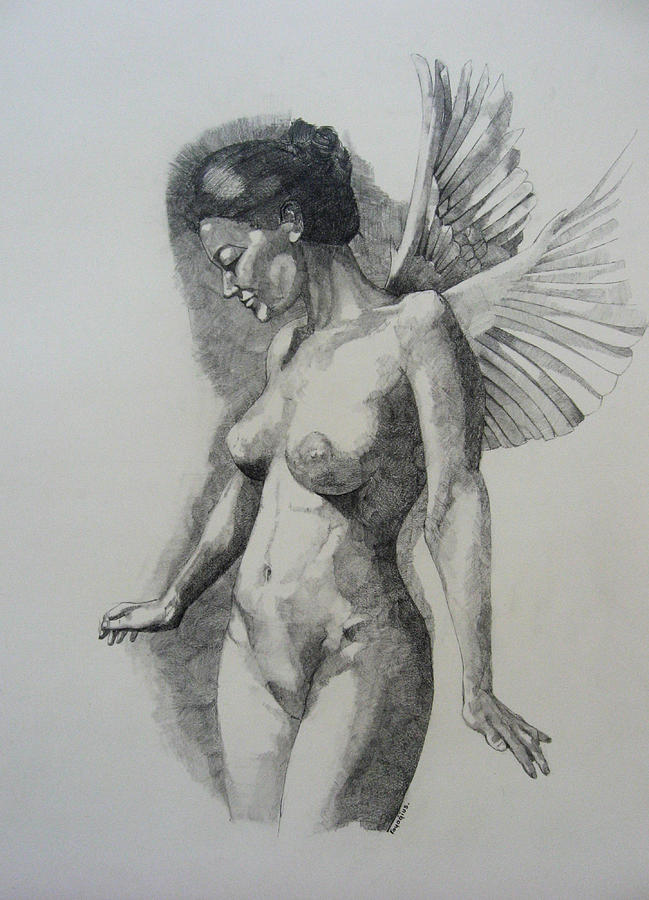Female Painting - Night Angel by Ray Agius