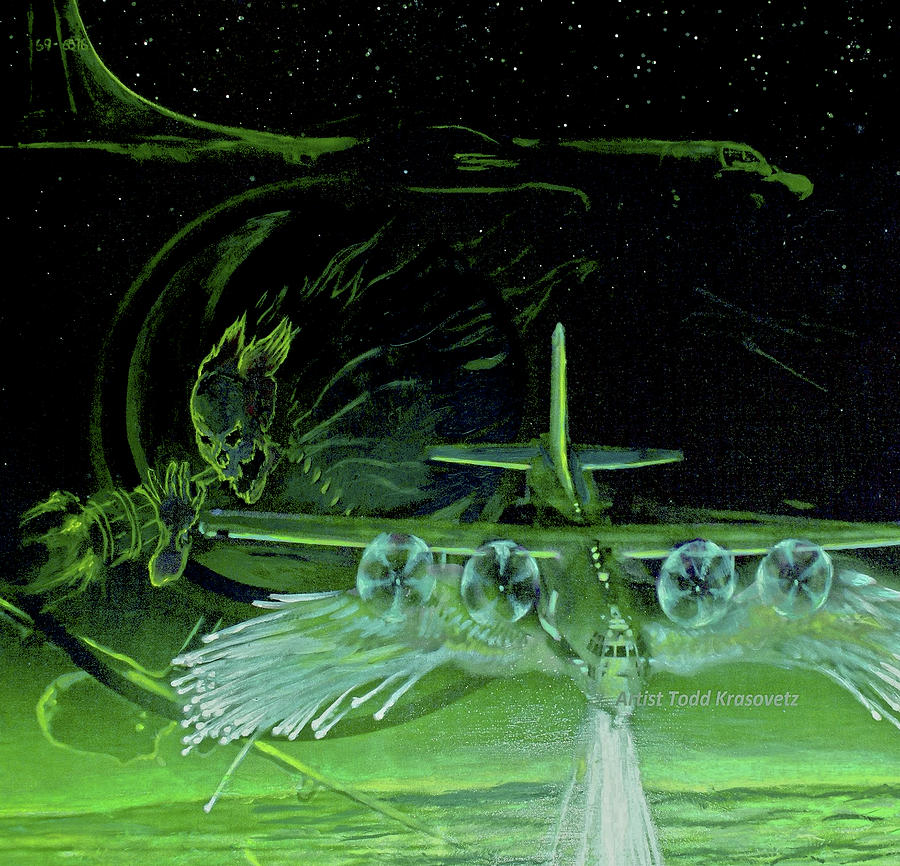 Military Artist Painting - Night Angels by Todd Krasovetz