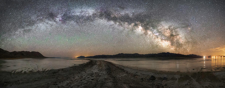 Black Rock Desert Photograph - Night in the Black Rock Desert by Tony Fuentes