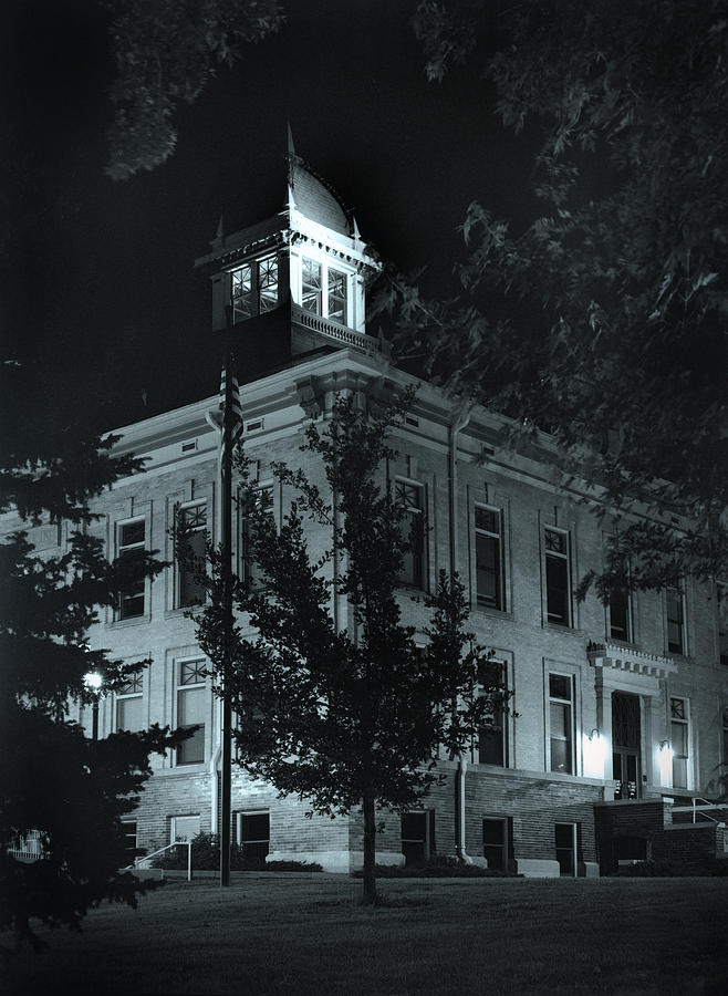 Court House Photograph - Night At The Court House by Jim Furrer