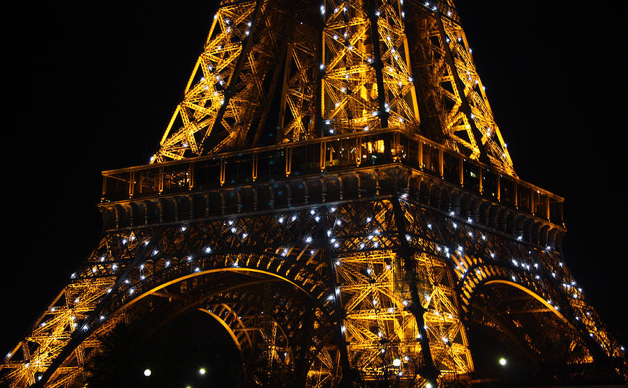Eiffel Photograph - Night At The Eiffel by Susie Weaver