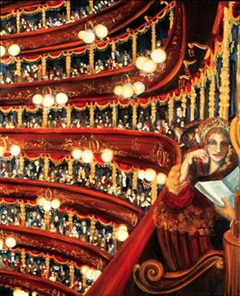 Opera Painting - Night At The Opera by Ione Citrin