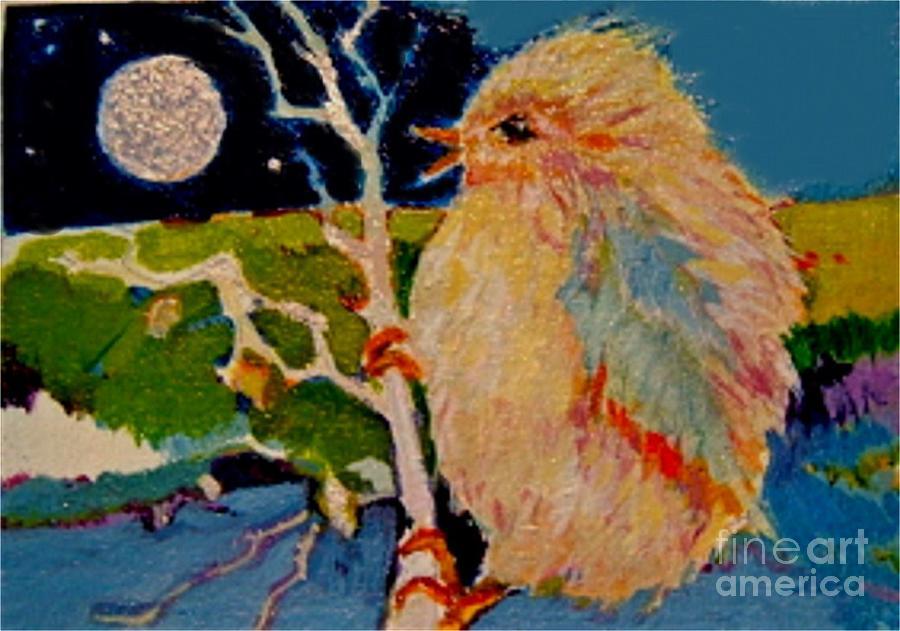 Bird Painting - Night Bird by Diane Ursin