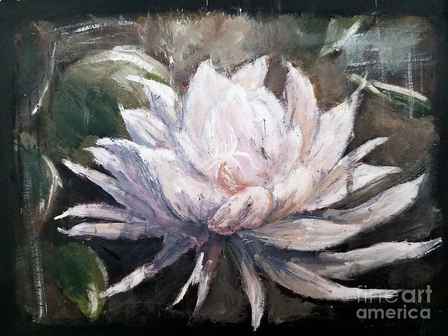 Night Bloom Painting by Esmeralda Acupan