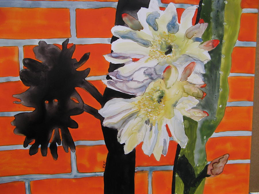 Night Bloomer Painting by Kitty Schwartz