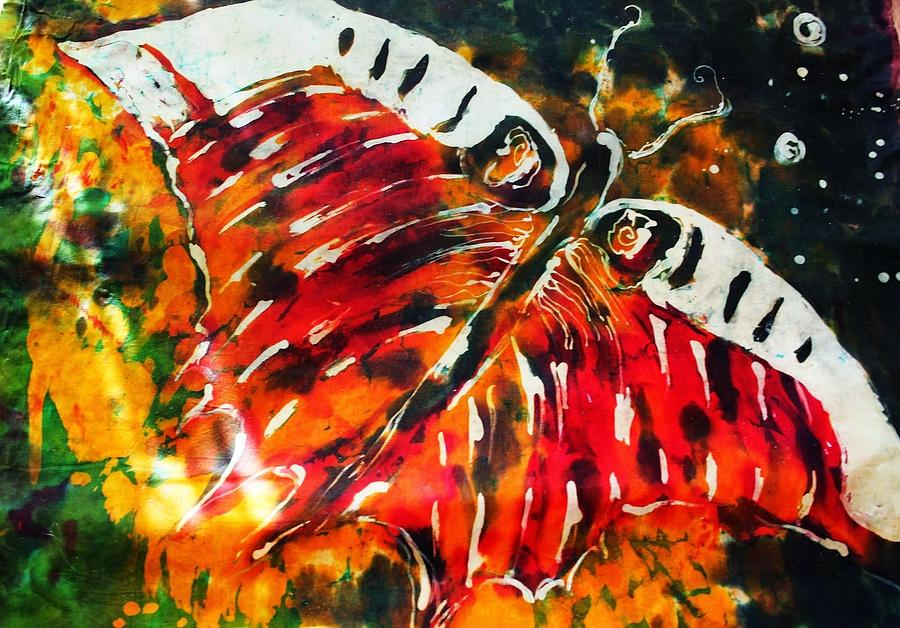 Nature Painting - Night Butterfly by Aga Kaminsky