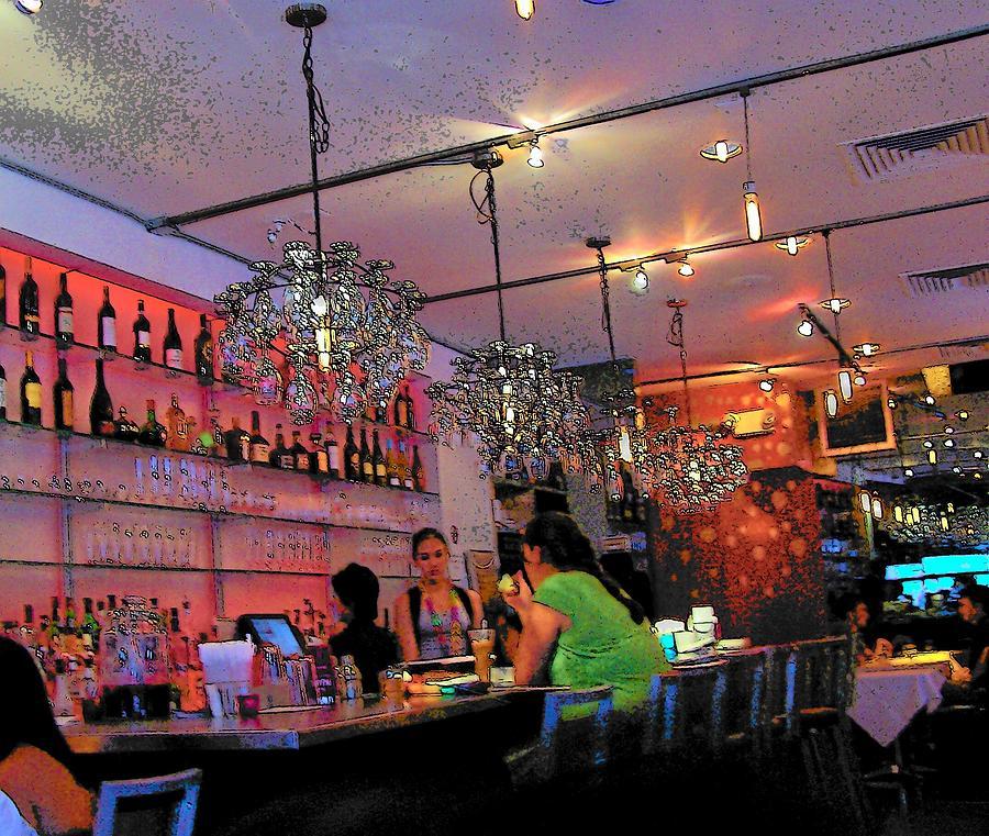 New York Photograph - Night Cafe New York by Vijay Sharon Govender