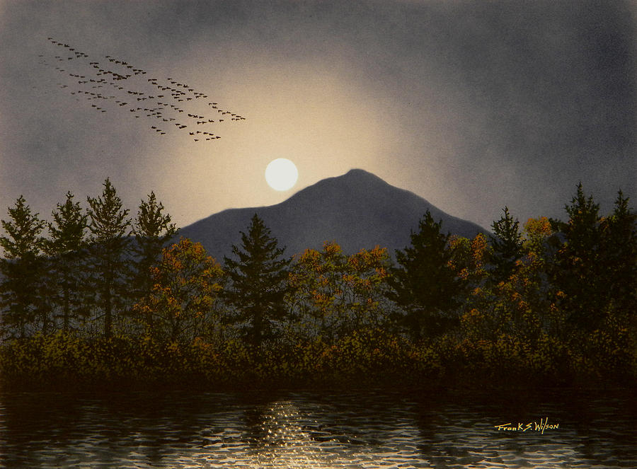 Mountains Painting - Night Calls by Frank Wilson