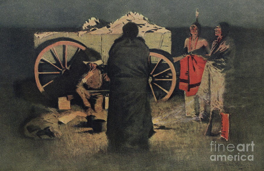 Night Camp Painting by Frederic Remington