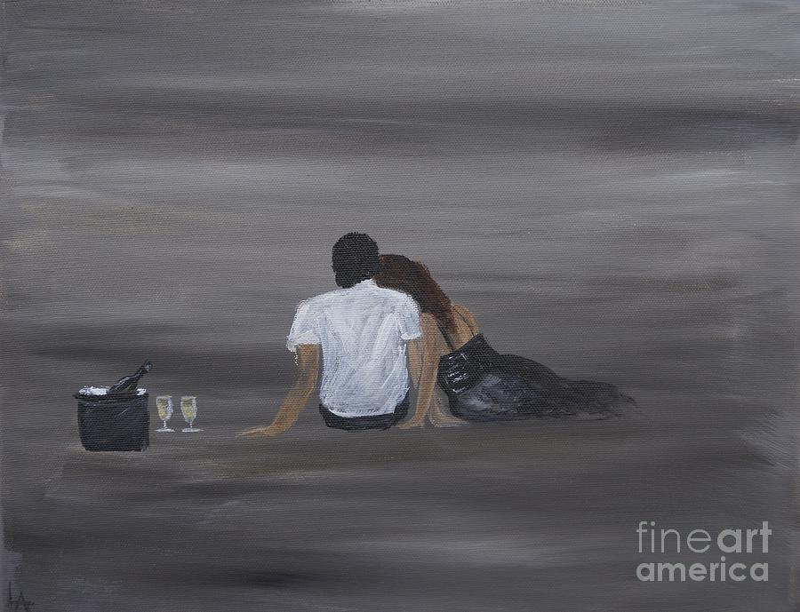 Couple Painting - Night Cap by Leslie Allen