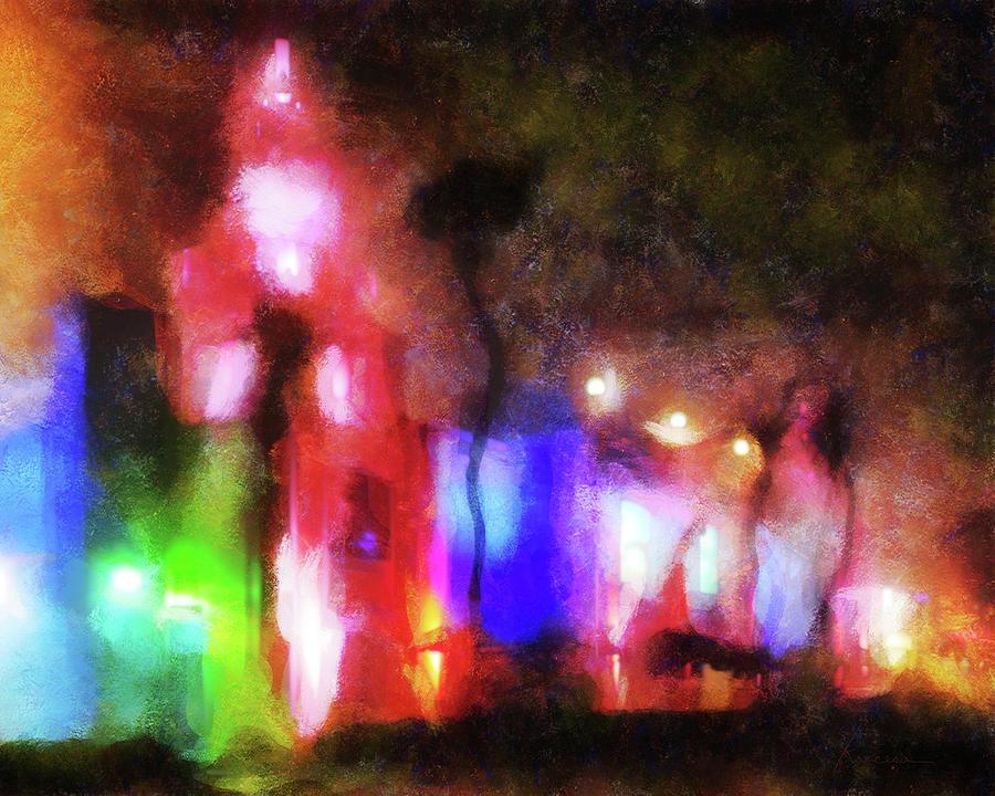 Night Digital Art - Night City Lights by Francesa Miller