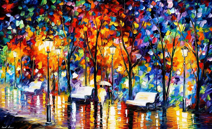 art gallery painting night copenhagen 2 palette knife oil painting on canvas by leonid
