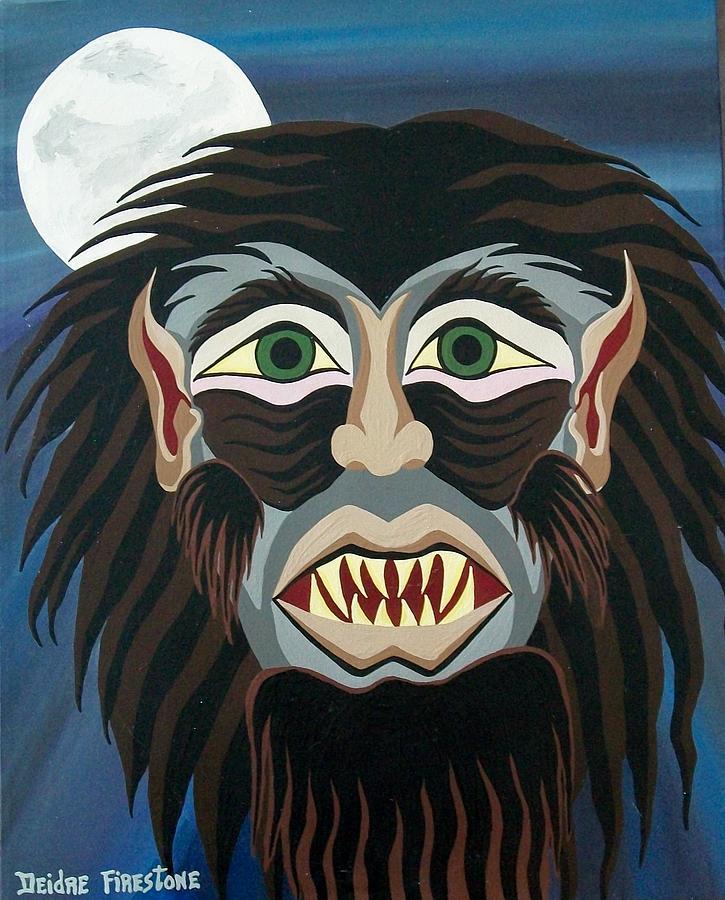 Werewolf Painting - Night Cries by Deidre Firestone