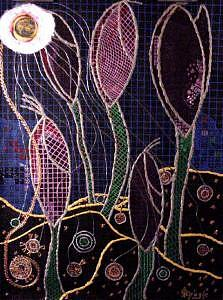 Night Crocus Painting by Peagle A