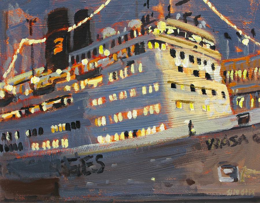 Paintings Painting - Night Cruise by Brian Simons