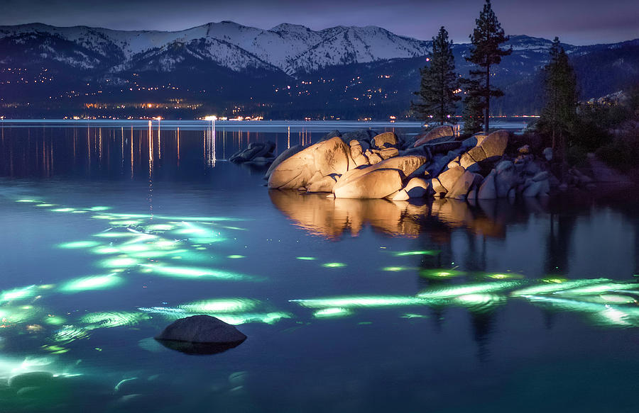 Landscape Photograph - Night Dive - Lake Tahoe by Tony Fuentes