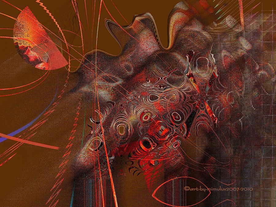 Photomanipulation Digital Art - Night Eyes by Mimulux patricia no No